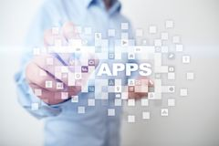 Concept de développement d'Apps Affaires et concept de technologie d'Internet Image stock