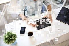 Concept de développement d'Apps Affaires et concept de technologie d'Internet Photo libre de droits