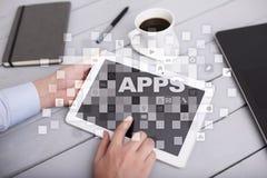 Concept de développement d'Apps Affaires et concept de technologie d'Internet Photographie stock