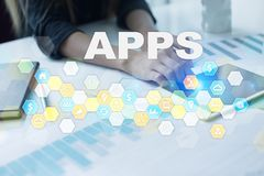 Concept de développement d'Apps Affaires et concept de technologie d'Internet Image libre de droits