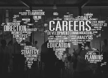Concept de développement de données de coopération d'analyse de carrières photos stock