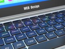 Concept de développement de web design, programmation ou termnes de SEO sur t Photographie stock