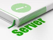 Concept de développement de Web : l'information de livre, serveur sur le fond blanc illustration stock