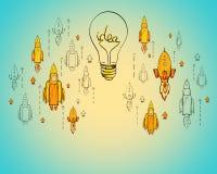 Concept de d?marrage et d'esprit d'entreprise illustration de vecteur