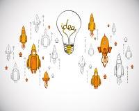 Concept de d?marrage et d'esprit d'entreprise illustration stock