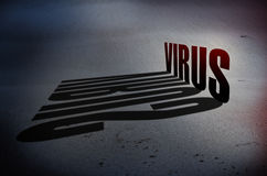 Concept de danger de virus Photos libres de droits