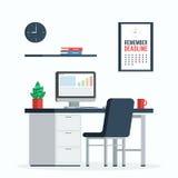 Concept de date-butoir de lieu de travail Image stock