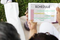 Concept de date de programme de calendrier de planificateur images libres de droits
