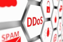 Concept de DDoS Photo stock
