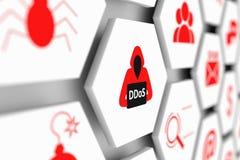 Concept de DDoS Image stock