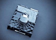 Concept de degré de sécurité d'ordinateur photographie stock