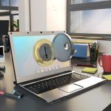 Concept de degré de sécurité d'ordinateur Photo libre de droits