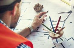 Concept de Design Construction Constructer d'ingénieur d'architecte image libre de droits
