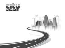 Concept de dessin-modèle de ville Photo stock