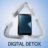 Concept de Detox de Digital illustration libre de droits