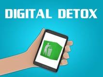 Concept de Detox de Digital illustration stock