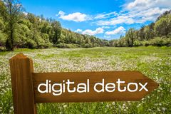 Concept de Detox de Digital image libre de droits