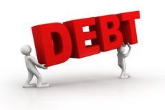 Concept de dette illustration libre de droits