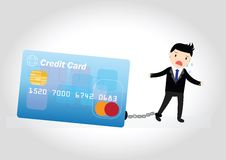 Concept de dette de carte de crédit Photos stock