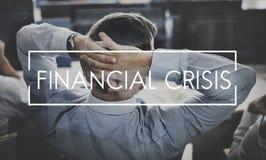 Concept de dette de coût de risque de récession d'économie de crise financière images libres de droits