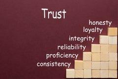 Concept de diagramme de confiance image stock