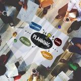 Concept de diagramme de Word de mission de buts d'affaires Image libre de droits