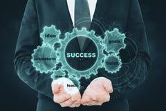 Concept de diagramme de réussite commerciale Images stock