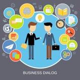 Concept de dialogue d'affaires Photographie stock libre de droits