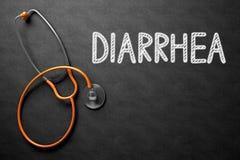 Concept de diarrhée sur le tableau illustration 3D Images libres de droits