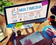 Concept de Digital d'infographies d'animation de multimédia images stock