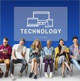 Concept de Digital de développement de dispositif de technologie Photos libres de droits