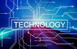 Concept de Digital de solution d'évolution d'innovation de technologie Photo libre de droits