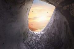 Concept de dimanche de Pâques : Croix de crucifixion de Jesus Christ Photo libre de droits