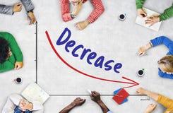 Concept de diminution d'échec de risque financier de récession images stock