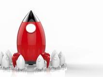 Concept de direction avec la fusée Photos libres de droits