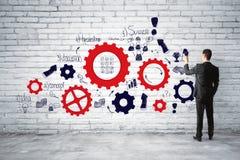 Concept de direction, de succès et d'échange d'idées Photos libres de droits