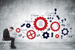Concept de direction, de succès et d'idée Images stock