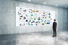 Concept de direction, de succès et de solution Photo stock