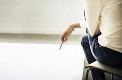 Concept de disposition de Thinking Ideas Creative de concepteur photo stock