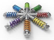 Concept de diversité d'ingénierie illustration de vecteur