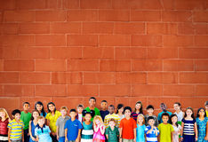 Concept de diversité de bonheur d'amitié d'enfance d'enfants d'enfants Photos stock
