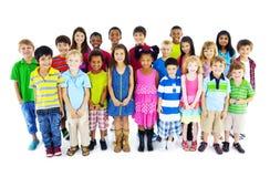 Concept de diversité de bonheur d'amitié d'enfance d'enfants d'enfants Images stock