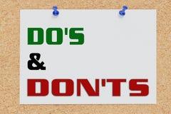 Concept de DO et de DON'TS illustration de vecteur