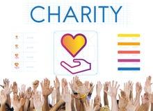 Concept de donation de charité de part de la Communauté Images libres de droits