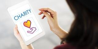 Concept de donation de charité de part de la Communauté Image stock