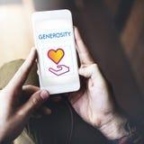 Concept de donation de charité de part de la Communauté Photographie stock libre de droits