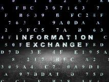 Concept de données : Échange de l'information dans l'obscurité grunge Images libres de droits
