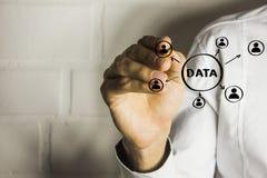 Concept de données de bouton d'affaires images libres de droits
