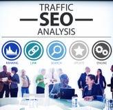 Concept de données de l'information d'analyse d'optimisation de moteur de recherche photos stock