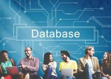 Concept de données de l'information de réseau de serveur de système de base de données photographie stock libre de droits